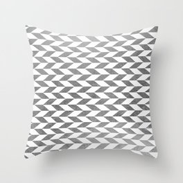 Elegant faux silver abstract geometric pattern Throw Pillow