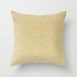 Light Waves in Golden Throw Pillow
