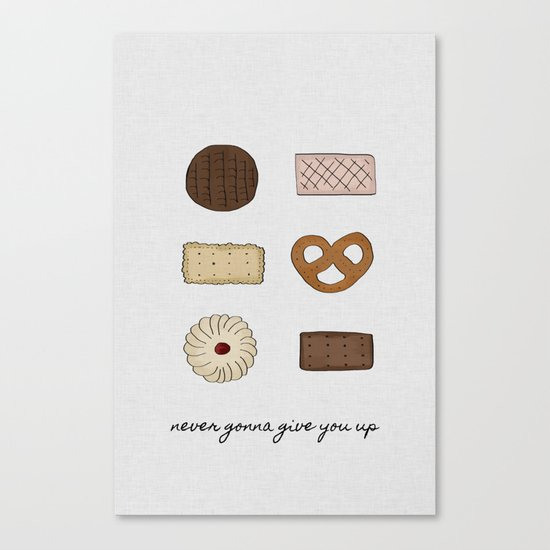 Never Gonna Give You Up, Kitchen Decor by paperpixelprints