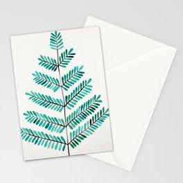 Turquoise Leaflets Stationery Cards