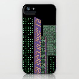 City Skyline at Night iPhone Case