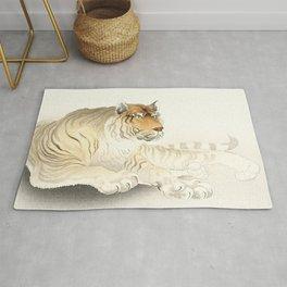 Resting Tiger - Vintage Japanese woodblock print Art Rug