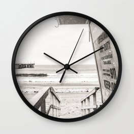 Lifeguard Tower Venice Beach Life Wall Clock