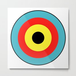 Isolated Archery Target Metal Print