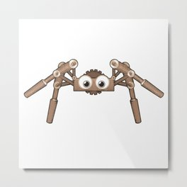 Itzy , the cute little robotic spider Metal Print
