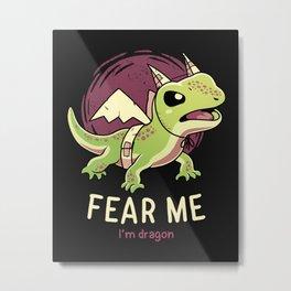 I'm Dragon Metal Print