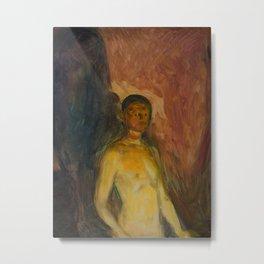 Edvard Munch - Self-Portrait in Hell Metal Print