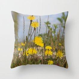 Seaside flora Throw Pillow