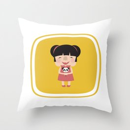 Hello how are you (Yellow Tales Series) Throw Pillow
