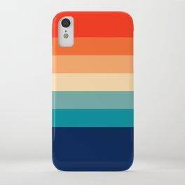 7 Colorful Retro Summer Stripes Bamola iPhone Case