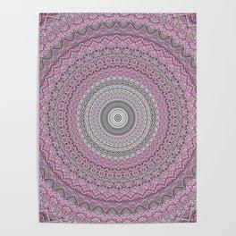 Bohemian Mauve Grey Mandala Poster