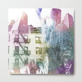 N.Y. collage color burst Metal Print