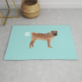 sharpei funny farting dog breed pure breed pet gifts Rug