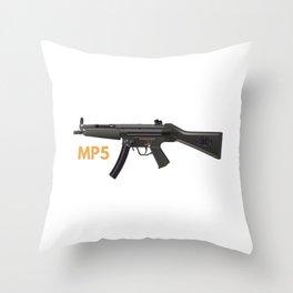 MP5 Submachine Gun Throw Pillow
