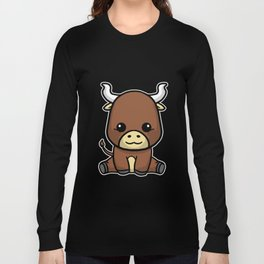 Cute Baby Bull Costume Cow Gift Idea Long Sleeve T-shirt