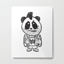 Punk Rock Panda  Metal Print