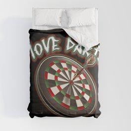 I love darts Comforters