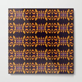 Divine Signature Geometric Pattern 2 Gold Metal Print