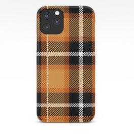 Orange + Black Plaid iPhone Case