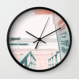 Lifeguard Tower California Beach Life Wall Clock