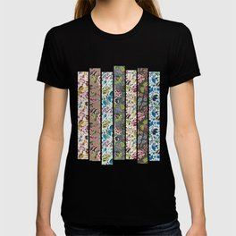floral art collage T-shirt