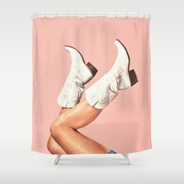 These Boots - Pink Shower Curtain