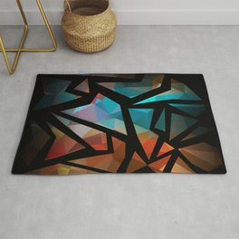 Abstract background of triangles polygon print. Rug
