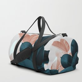 Blush & Blue Leaves Duffle Bag
