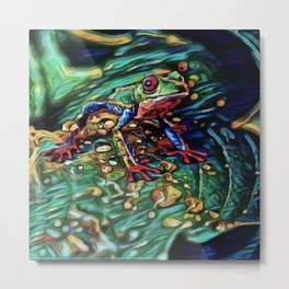 Tree Frog Dream | Painting Metal Print