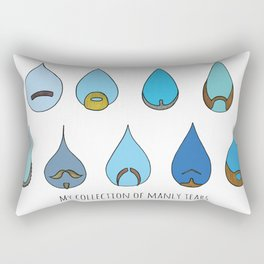My Collection of Manly Tears Rectangular Pillow