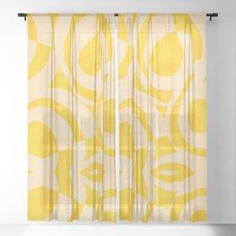 Pop Yellow Sheer Curtain