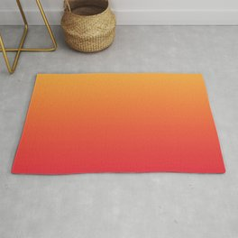 Summer Pattern Ombre Yellow Orange Red Gradient Texture Rug