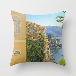Varenna Vista, Lake Como Throw Pillow
