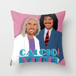 Batistuta and Gullit in Calcio Vice Throw Pillow