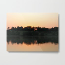 Summer sunset over the lake | Landscape photography Metal Print