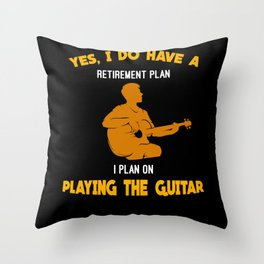 Playing The Guitar - Gift Throw Pillow