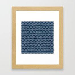 Wabi Sabi Arches in Blue Framed Art Print