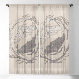 Peppered Moths Sheer Curtain