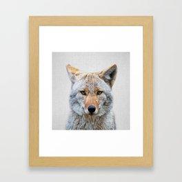 Coyote - Colorful Gerahmter Kunstdruck