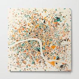 London Mosaic Map #4 Metal Print