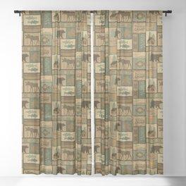 Big Bear Lodge Sheer Curtain