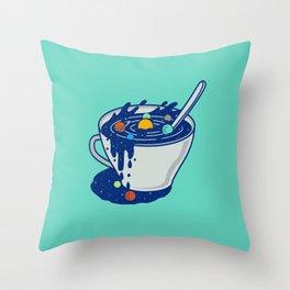 Galaxy Mug Throw Pillow
