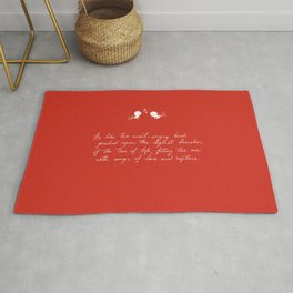 Be Like Two Sweet-Singing Birds [Red] Rug