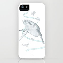 Whale and Dolphins iPhone Case