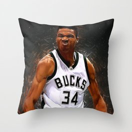 Yannis Andetokunbo Throw Pillow