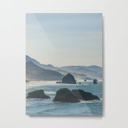 Haystack Rock from Crescent Point Metal Print