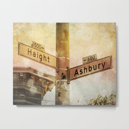Sunset In the Haight Metal Print