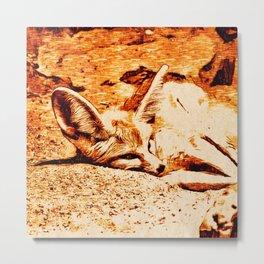 SmartMix Animal- Fennec Fox Metal Print