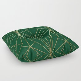 Art Deco in Gold & Green - Large Scale Floor Pillow