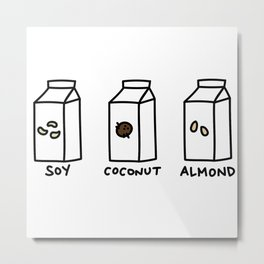 Soy Coconut Almond Metal Print